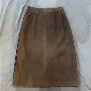Deer skin skirt with whip stitch new with tags